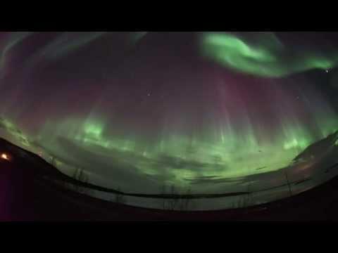 Живое видео сегодняшнего полярного сияния 17-18 марта 2015 года