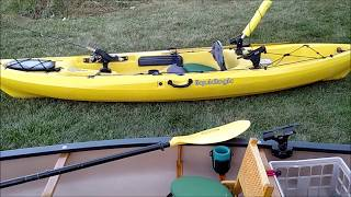 Which one 🤔 sit on top fishing kayak or solo canoe fishing set up?