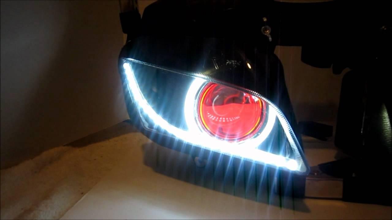 3 Honda Cbr 600rr Projector Headlights Bixenon Hid Angel