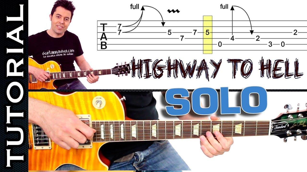 Connu Como tocar Highway To Hell de AC DC SOLO tutori - With Loop  XA06