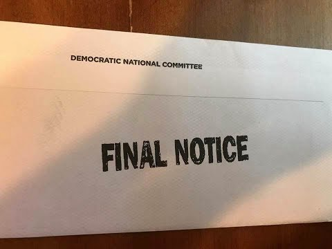 Desperate DNC Makes Fundraising Mail Look Like Debt Collection