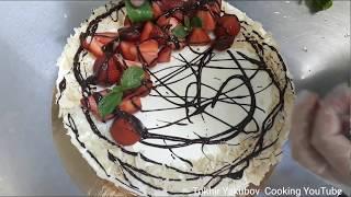 Обычный бисквитный торт как украшаются уровне чизкейка.