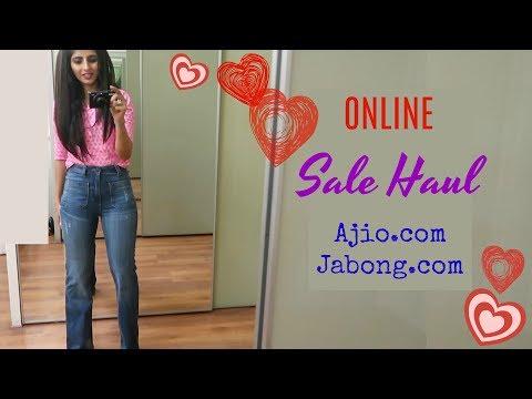 Online Sale Haul : Kurtas, Dresses, shoes : Ajio.com & jabong.com