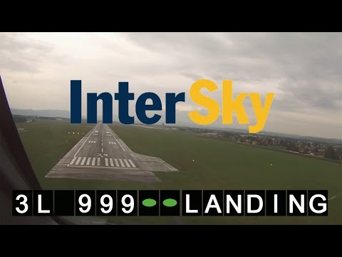 InterSky Pilot´s View Landing Flughafen Graz | Dash 8-314 OE-LIA