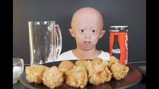 [욘니의 단독  먹방] BHC 해바라기 후라이드 치킨 | 치즈볼 | 욘니 혼자 먹어 봤어요 |  Korean Chicken Mukbang | Eating Show |