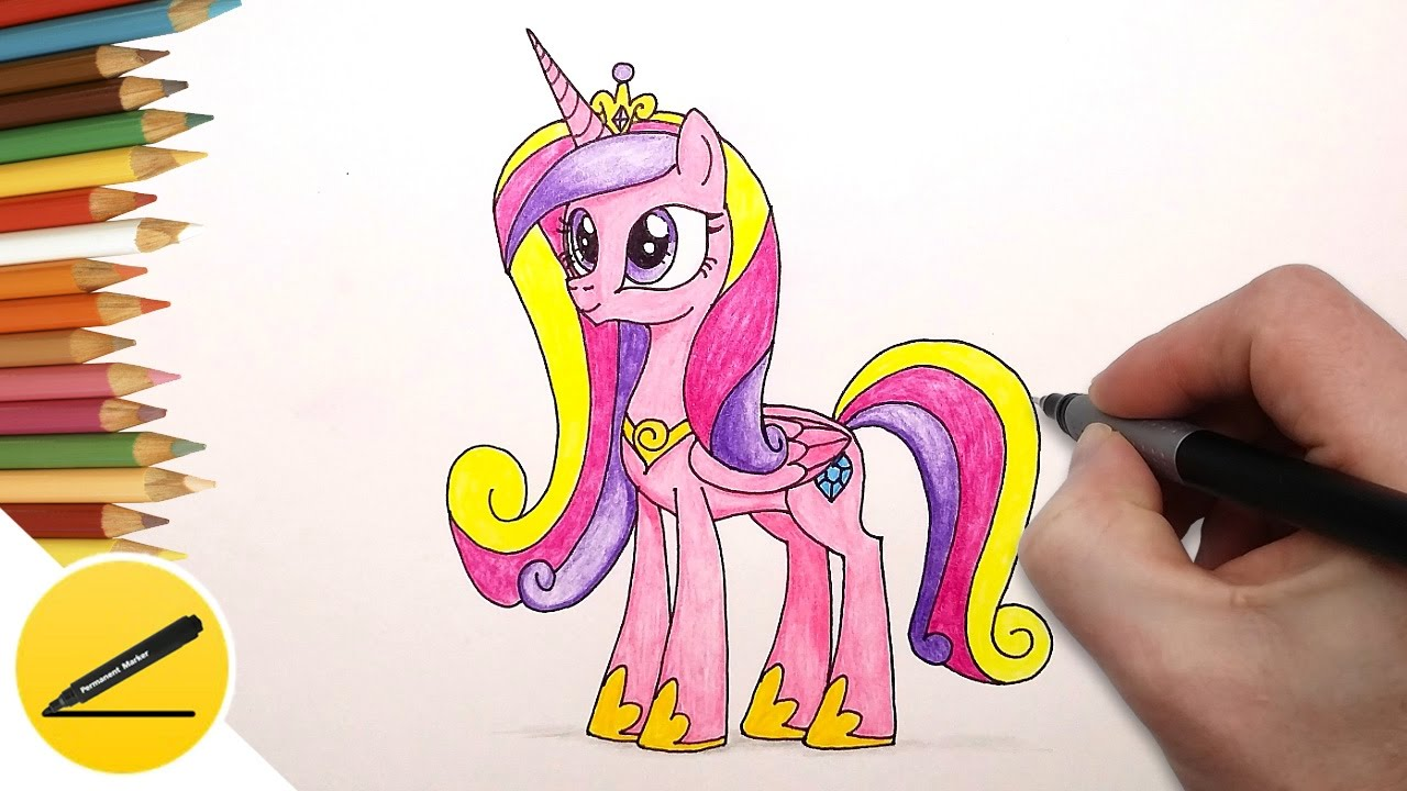 How to Draw My Little Pony Princess Cadence - Как ...
