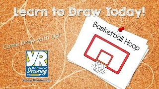 Teaching Kids How to Draw: How to Draw a Basketball Hoop