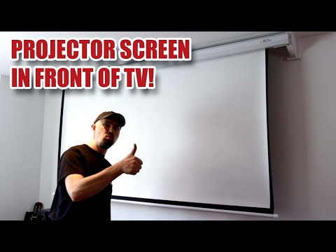 Installing a Motorised Projector Screen with Off-set Brackets to Avoid TV! [48]