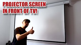 "How to Install a Projector Screen (90"" Motorised) with Brackets to Avoid TV [48]"