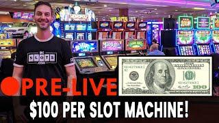 🔴 Pre-LIVE - $100 per 🎰 Slot Machine at San Manuel Casino