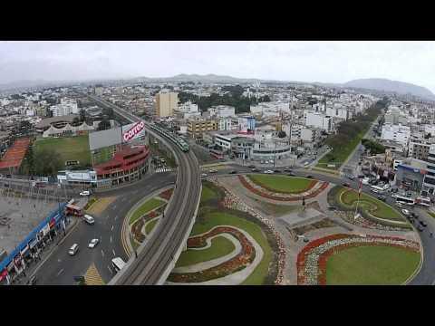 Estaciones Metro de Lima, Linea 1- Vista desde un Drone