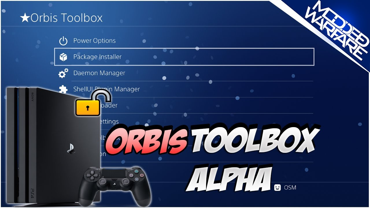 PS4 Orbis Toolbox Alpha Overview
