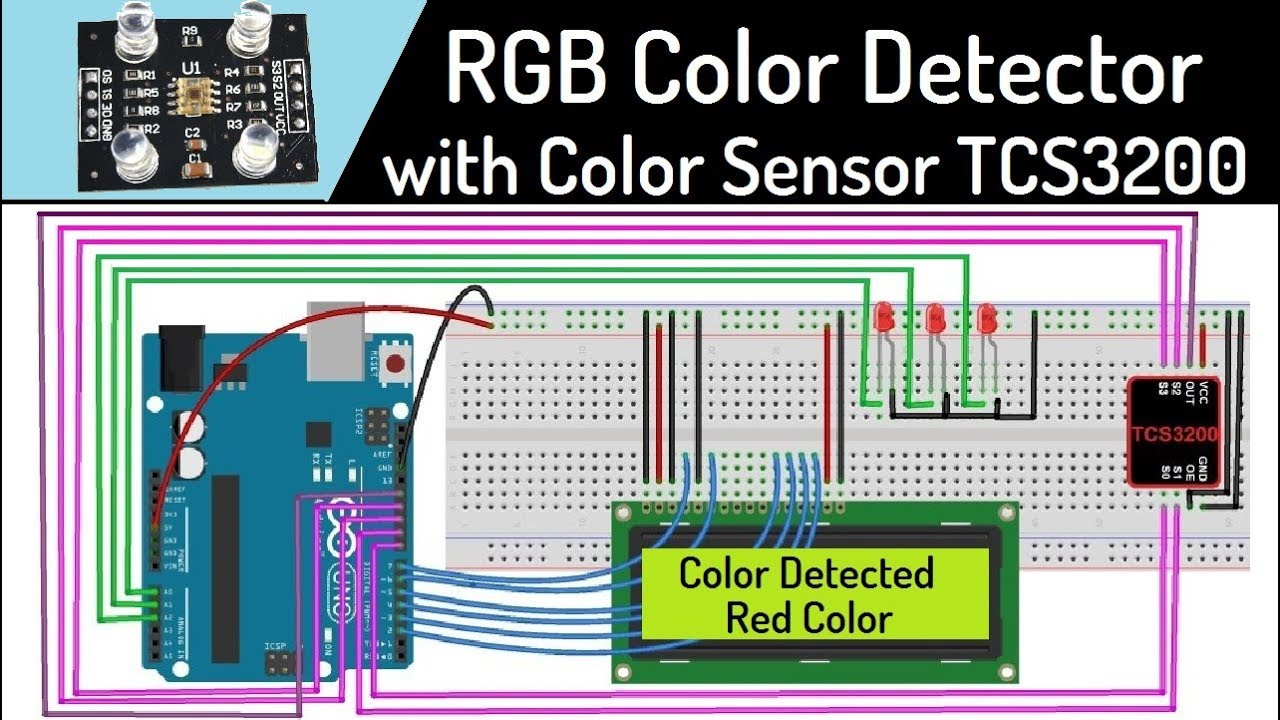 Arduino RGB Color Detector using TCS3200 Color Sensor