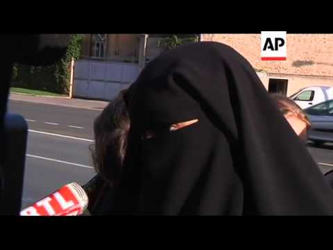 Court arrivals with judgement due on women defying veil ban