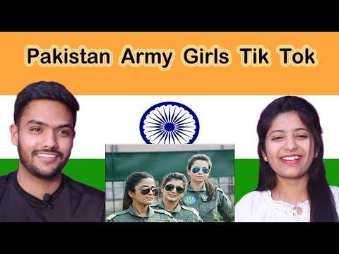Indian Reaction on Pakistan Army Girls Tik Tok | Swaggy d