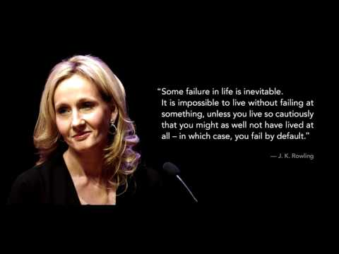 The Most Inspirational Speech by J. K. Rowling
