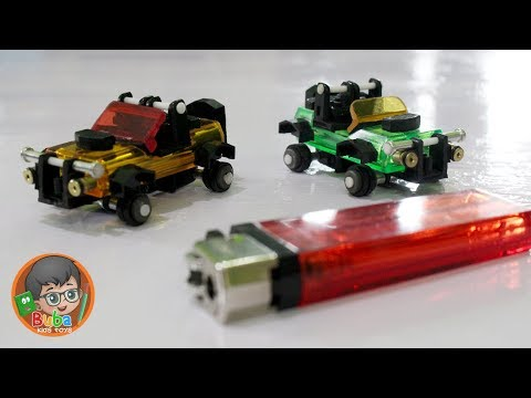 How to Make Mini Jeep Car Toys from cheap Lighters | Limbah Korek Gas