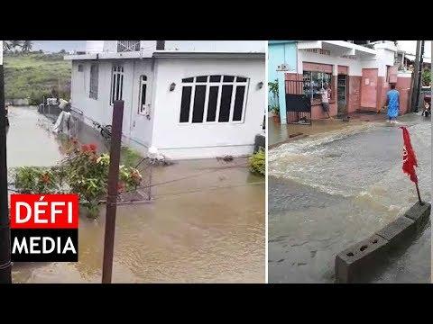 Intempéries : le village Ernest Florent à Flacq sous les eaux