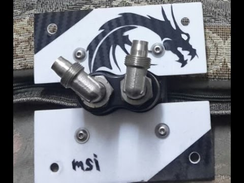 How to clean a cpu  water block / My customized water block ( Results included )