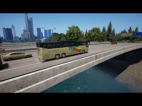 Fernbus Simulator - Von Frankfurt Zentrum zum Flughafen - VDL Futura FHD2 139 - Trackhat |