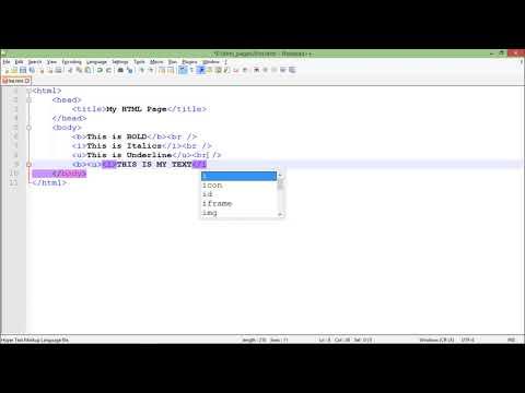 HTML - Formatting Tags
