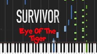 Survivor - Eye Of The Tiger [Piano Tutorial] (♫)