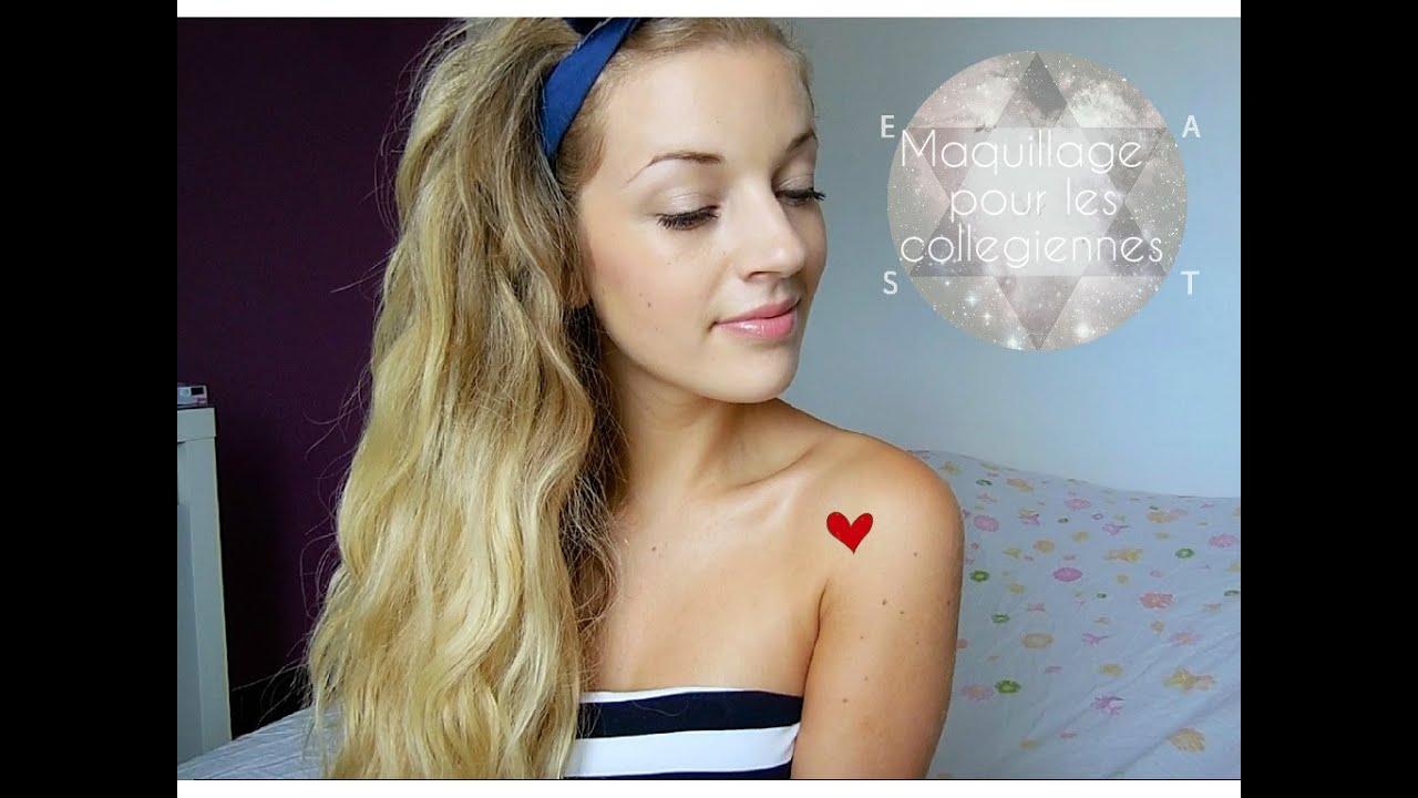 Bien-aimé Tutoriel Maquillage pour le College - YouTube JQ17
