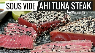 sous vide ahi tuna steak the best fish we had so far sous vide is perfect for this