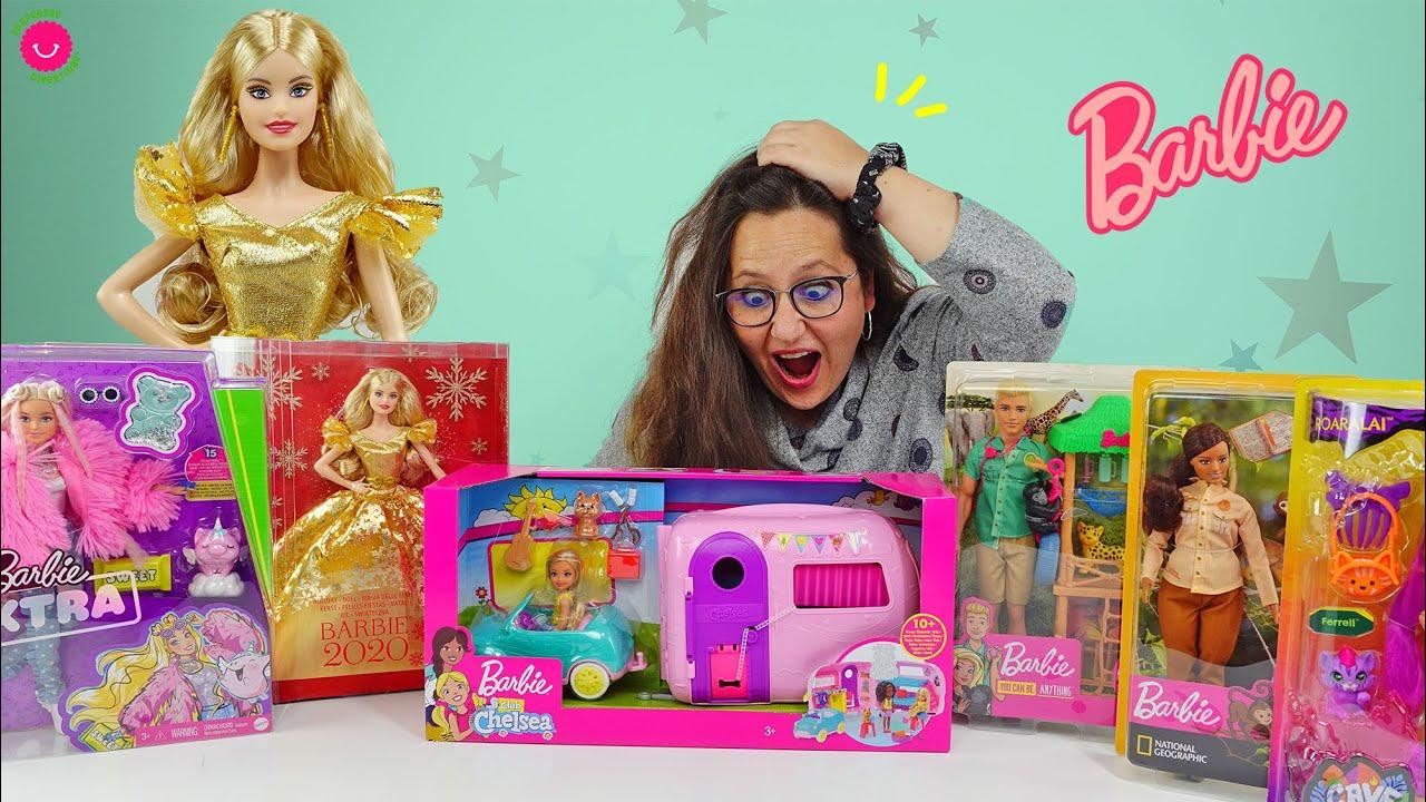 Barbie de Navidad + Nuevos juguetes Barbie con caravana de Chelsea, Cave Club,  Barbie Extra y más