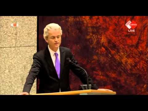 Interrupties inbreng Geert Wilders bij debat over de aanslag in Parijs