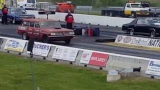 Jim Wade's 1963 Tempest Wagon Drag Racing