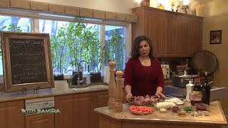 Cooking With Samira # 117 Braised Lamb Shanks With Pomegranate تشريب لحم خروف مع الرمان