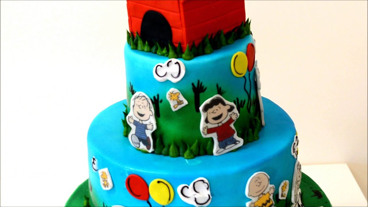 Snoopy Kids Cartoon Birthday Cake Youtube