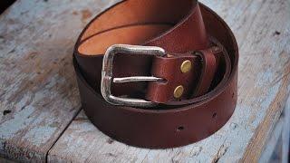 работа с кожей.  Ремень своими руками. Handmade leather belt