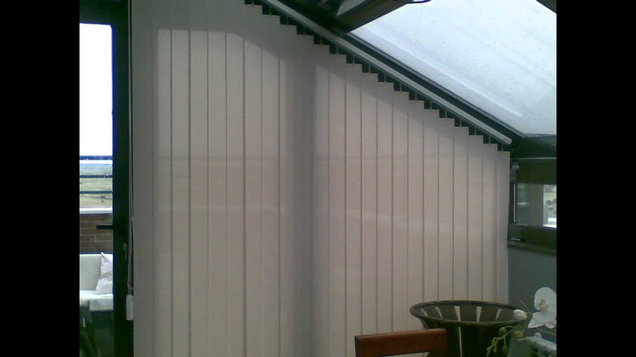 Cortinas verticales inclinadas con polyscreen 1 youtube - Cortinas verticales madrid ...