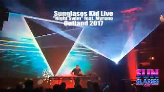 """Sunglasses Kid performs """"Night Swim"""" live at Outland 2017 synthwave event"""
