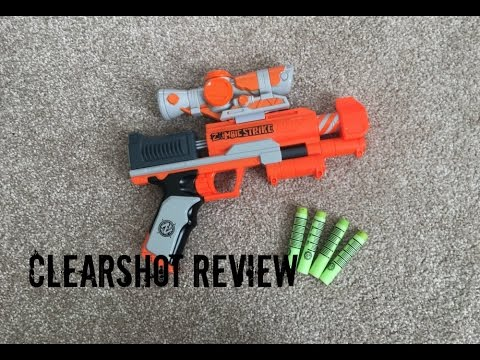 Nerf Zombie Strike Zed Squad Clear Shot Unboxing,  & Range Test