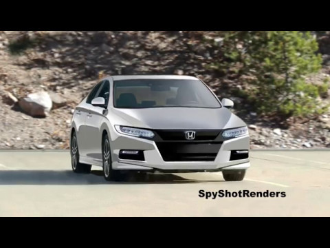 2018 Honda Accord - Spy Shot Render Preview - YouTube