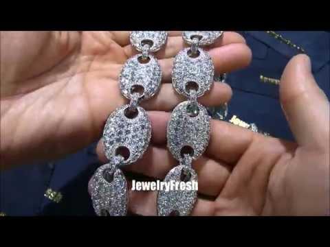 JewelryFresh Oversized 25mm Gucci Link Lab Diamond Chain Flawless Work