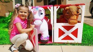 डियेना और घोड़ों के साथ मनोरंजक कहानी