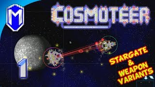 Cosmoteer - Opening The Iris - Let's Play Akinata's Weapon Variants & Stargate Mod Gameplay Ep 1