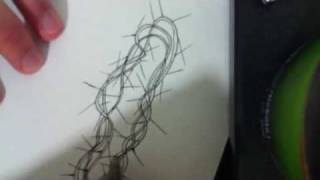 How to draw a crown of thorns