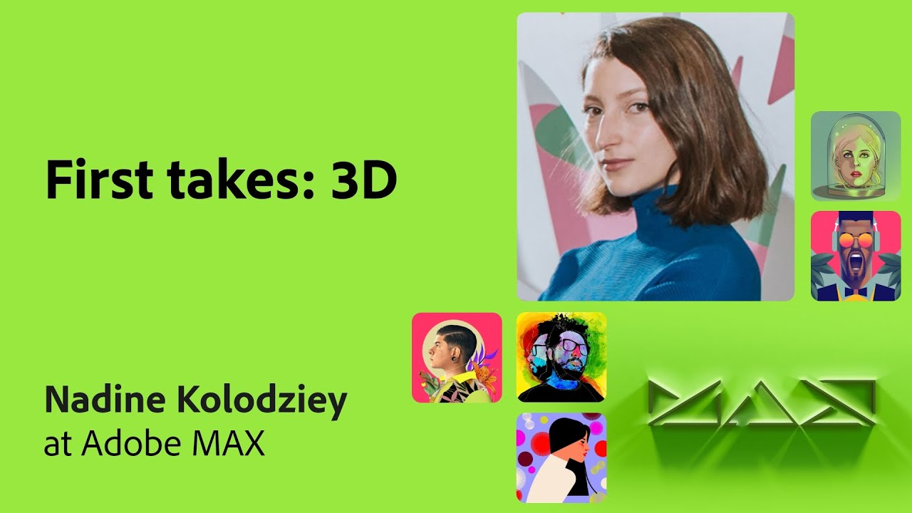 First Takes from the Community: 3D with Nadine Kolodziey | Adobe Live