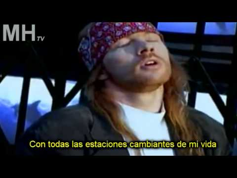 Guns N  Roses Estranged subtitulado traducido español letra