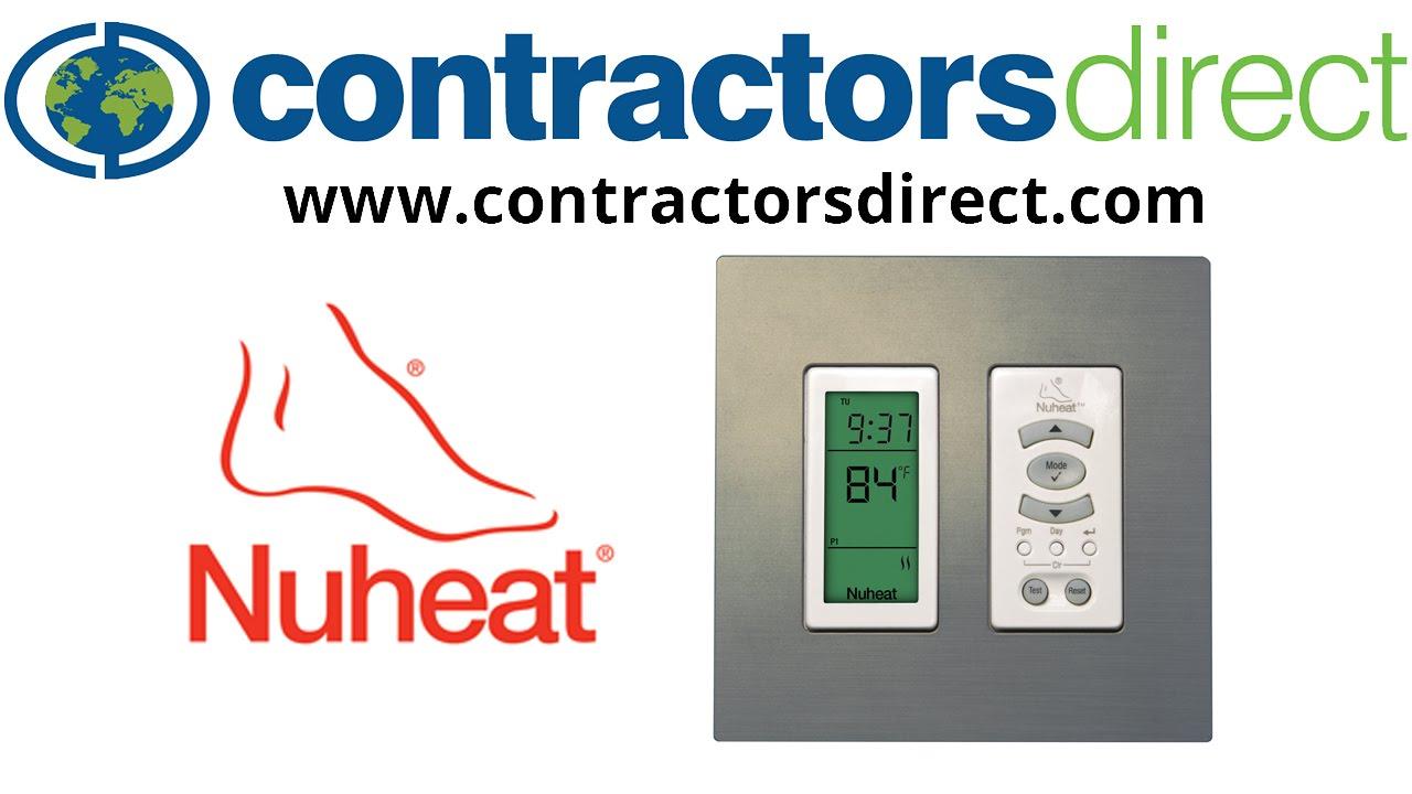 nuheat harmony floor heating programmable thermostat 3 modifying the schedule [ 1280 x 720 Pixel ]