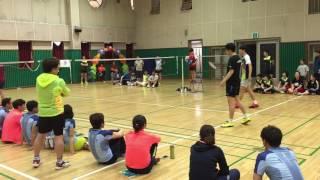 경희대 배드민턴 선수들의 시범경기 Korea Badminton Kyunghee University Player's amazing badminton play