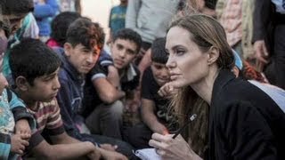 Angelina Jolie giving a voice to refugees in Syria