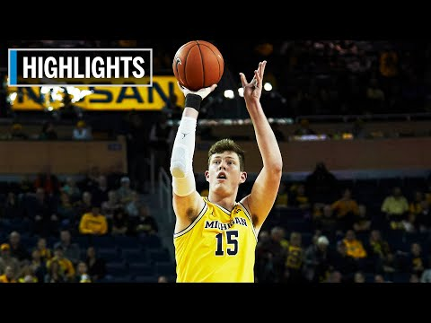 Highlights: Simpson Scores 22 Points in Win | Houston Baptist at Michigan | Nov. 22, 2019