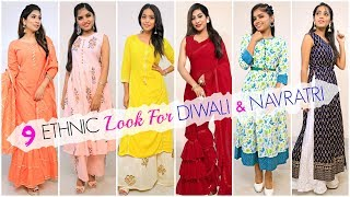 9 ETHNIC Looks for DIWALI/NAVRATRI ..   #Fashion #ClubDiwaliSale #ClubFatory #UnbeatenPrice #Anaysa