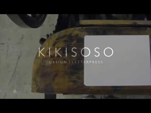 Letterpress printing business cards by Kikisoso